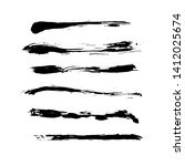 ink vector brush strokes... | Shutterstock .eps vector #1412025674