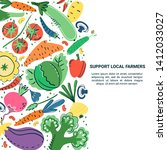 vegetables hand drawn banner... | Shutterstock .eps vector #1412033027