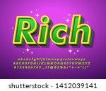 rich text effect with glitter... | Shutterstock .eps vector #1412039141