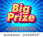 3d pop big prize text effect ... | Shutterstock .eps vector #1412039147