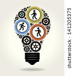 gears and people icons form the ... | Shutterstock .eps vector #141205375