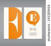 business card vector template ...   Shutterstock .eps vector #141205414