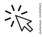 mouse cursor symbol   arrow...   Shutterstock . vector #1412069621