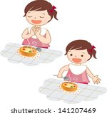 meal   child illustration | Shutterstock . vector #141207469