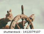 Steering Hand Wheel Ship On Sky ...
