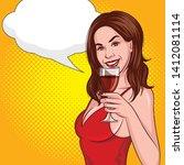 color vector in comic style pop ... | Shutterstock .eps vector #1412081114