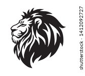 wild lion head logo vector icon ... | Shutterstock .eps vector #1412092727