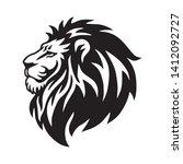 Stock vector wild lion head logo vector icon design 1412092727