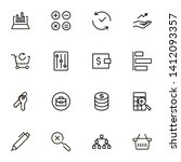 accounting ine icon set....