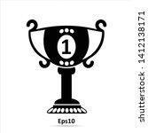 trophy icon. vector...