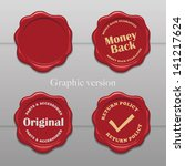old wax stamp   graphic version ... | Shutterstock .eps vector #141217624