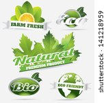 detailed eco bio natural... | Shutterstock .eps vector #141218959