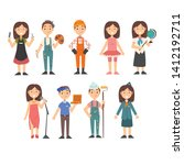 kids of various professions set ... | Shutterstock .eps vector #1412192711