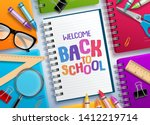 back to school vector concept... | Shutterstock .eps vector #1412219714