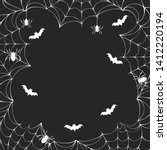 october spiderweb border frame...   Shutterstock .eps vector #1412220194
