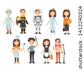 kids of various professions set ... | Shutterstock .eps vector #1412240324