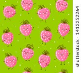 seamless pattern with cute... | Shutterstock .eps vector #1412252264
