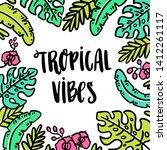 hand drawn lettering phrase ... | Shutterstock .eps vector #1412261117