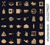 preparation icons set. simple... | Shutterstock .eps vector #1412279027