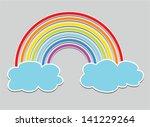 vector symbol of rainbow and... | Shutterstock .eps vector #141229264