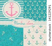 vector set of four nautical... | Shutterstock .eps vector #141229291