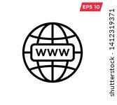 internet   globe icon vector... | Shutterstock .eps vector #1412319371