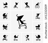 baby carriages | Shutterstock .eps vector #141232009