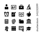 set 16 education icons | Shutterstock .eps vector #141232099