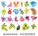 set of microbes. collection of... | Shutterstock .eps vector #1412325824