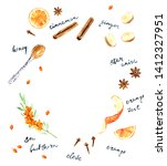 hand drawn hot drink recipe... | Shutterstock . vector #1412327951