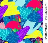 vector colorful seamless... | Shutterstock .eps vector #1412329874