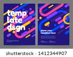 template design with dynamic... | Shutterstock .eps vector #1412344907