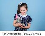 spreading love. kid cute girl... | Shutterstock . vector #1412347481