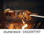 Two Chicken In Rotisserie Still ...