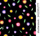 hand drawn watercolor fantasy... | Shutterstock . vector #1412351777