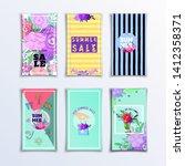 floral summer poster for sale... | Shutterstock .eps vector #1412358371