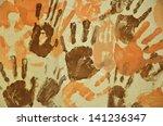 brown and orange children's... | Shutterstock . vector #141236347