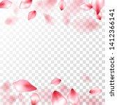 pink sakura petals falling... | Shutterstock .eps vector #1412366141