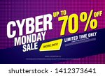 cyber monday sale banner layout ... | Shutterstock .eps vector #1412373641