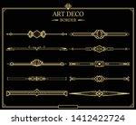 set of art deco gold... | Shutterstock .eps vector #1412422724