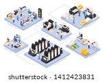 printing house isometric... | Shutterstock .eps vector #1412423831