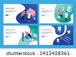 isometric dentist set with...   Shutterstock .eps vector #1412428361