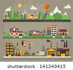colorful ecology background | Shutterstock .eps vector #141243415
