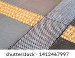 bright yellow tactile paving ... | Shutterstock . vector #1412467997