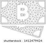 mesh bitcoin cash banknotes... | Shutterstock .eps vector #1412479424
