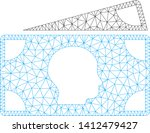 mesh banknotes model icon. wire ... | Shutterstock .eps vector #1412479427
