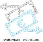 mesh banknotes exchange model... | Shutterstock .eps vector #1412480381