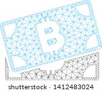 mesh bitcoin banknotes model... | Shutterstock .eps vector #1412483024