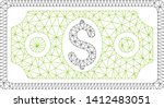 mesh banknote model icon. wire... | Shutterstock .eps vector #1412483051