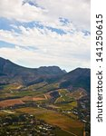aerial view of cape winelands ... | Shutterstock . vector #141250615